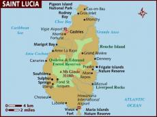 Map of St Lucia
